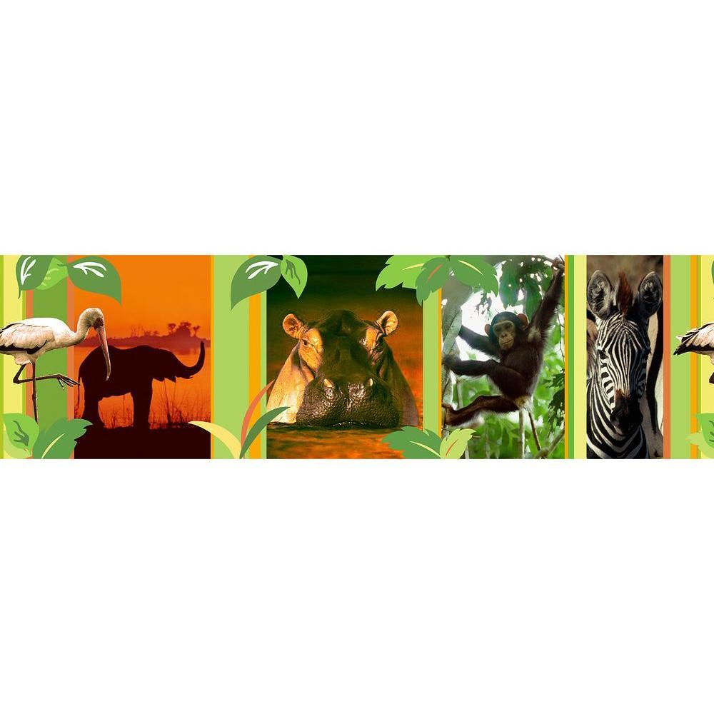 National Geographic Jungle Stripes 2 Wallpaper Border Sample