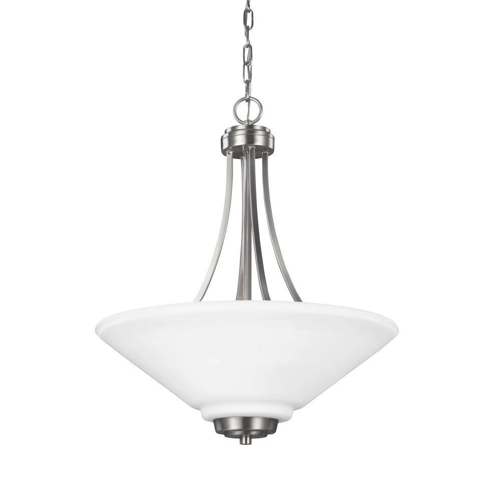 Sea Gull Lighting Parkfield 3-Light Brushed Nickel Indoor