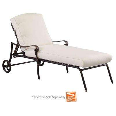 Edington Cast Back Adjustable Patio Chaise Lounge with Cushions Included, Choose Your Own Color