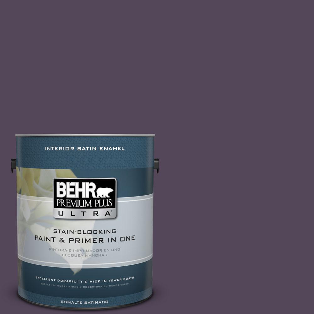 BEHR Premium Plus Ultra 1-Gal. #PPU17-1 Mata Hari Satin Enamel Interior Paint