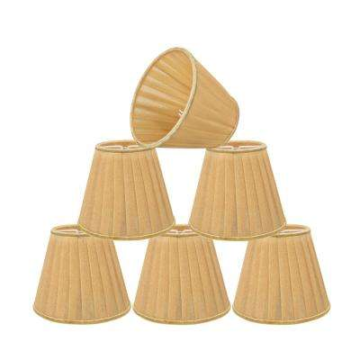 5 in. x 4-1/4 in. Gold Pleated Empire Lamp Shade (6-Pack)