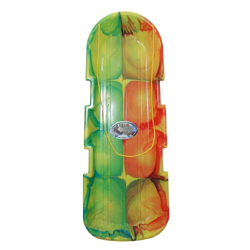 Emsco ESP Series 48 in. Two-Rider Toboggan Sled in Tie-Dye