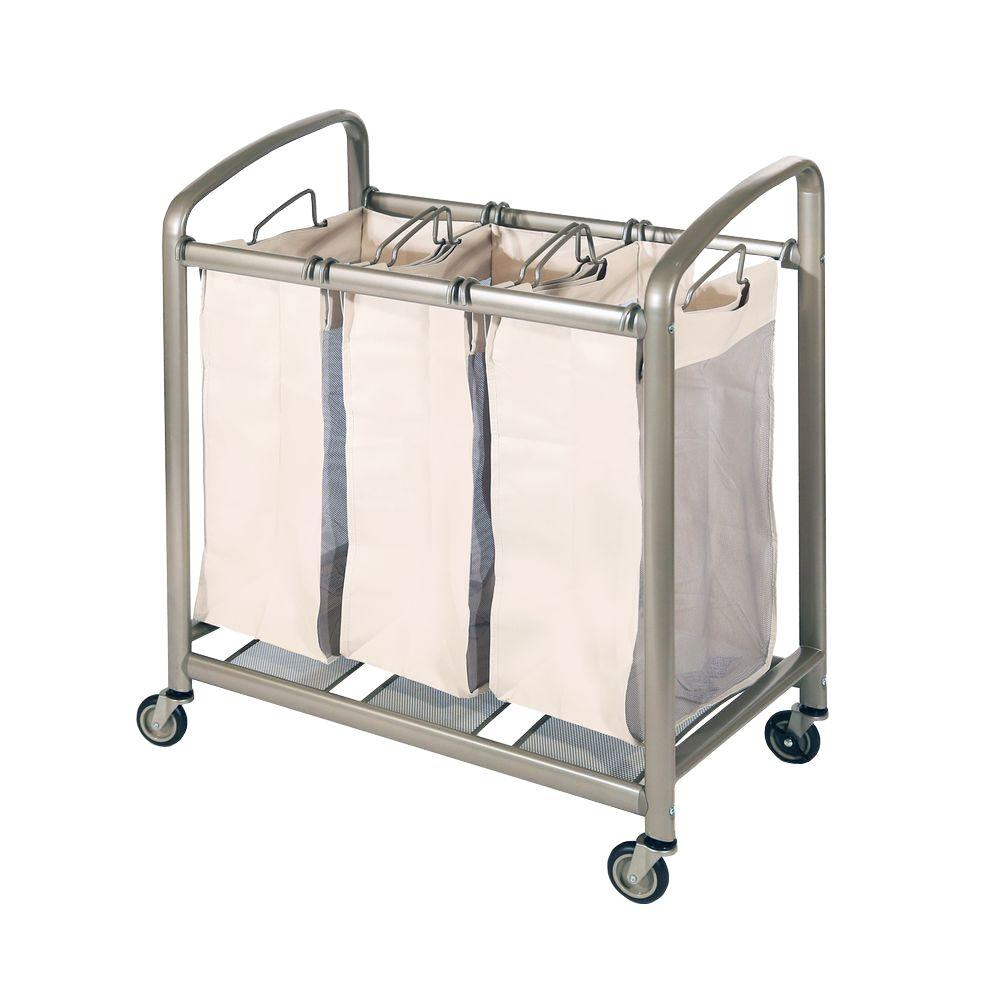 3-Bag Slanted Handle Laundry Sorter