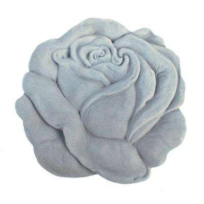 Cast Stone Rose Stepstone Antique Gray