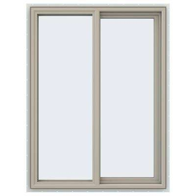 35.5 in. x 47.5 in. V-4500 Series Right-Hand Sliding Vinyl Windows - Tan