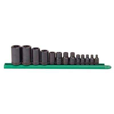 1/4 in., 3/8 in. and 1/2 in. Drive External Torx Socket Set (13-Piece)