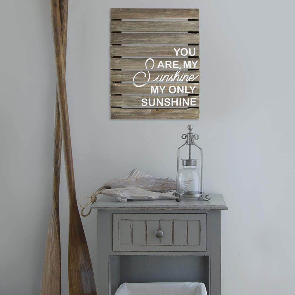 Stratton Home Decor You Are My Sunshine Plank Wood Art Wall