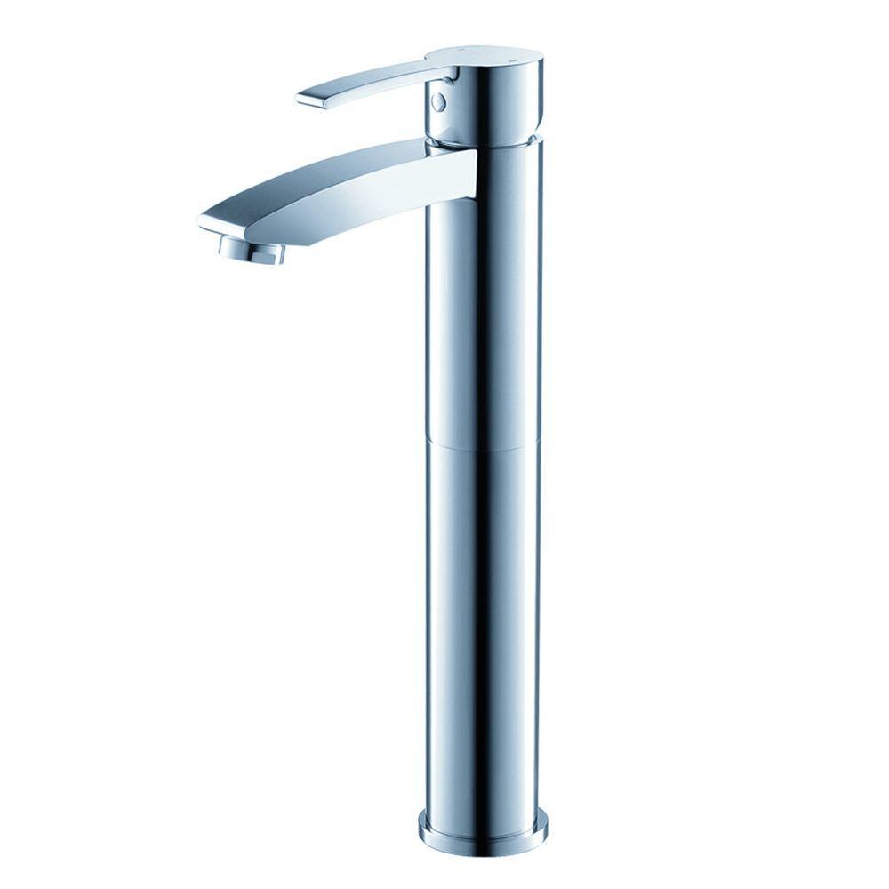Livenza Single Hole 1-Handle Vessel Bathroom Faucet in Chrome
