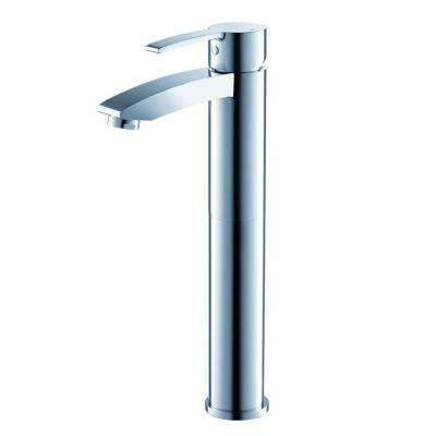 Livenza Single Hole 1-Handle Vessel Bathroom Faucet in Chrome
