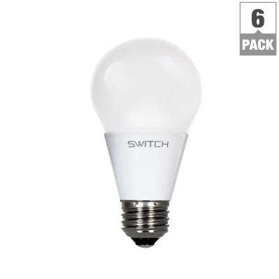 40W Equivalent Soft White  A19 LED Light Bulb (6-Pack)