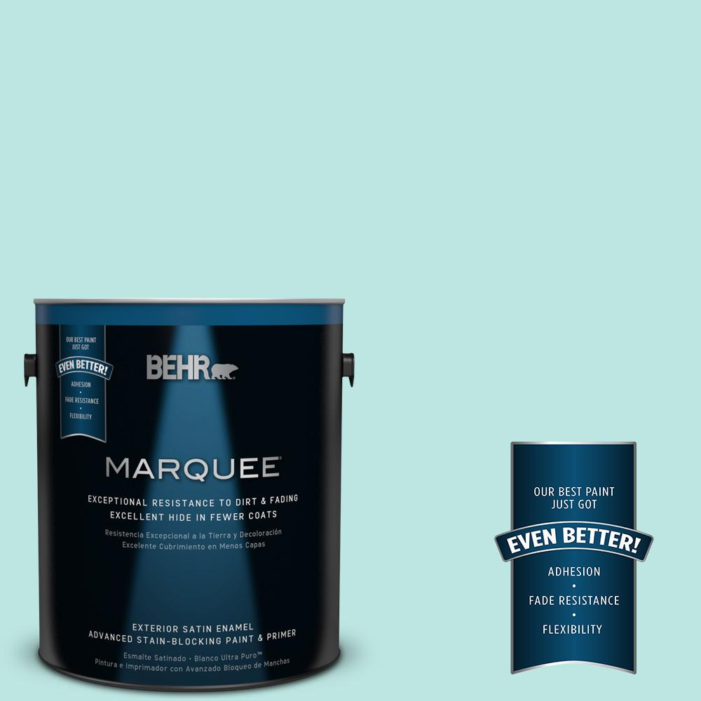 BEHR MARQUEE 1-gal. #490A-2 Cool Jazz Satin Enamel Exterior Paint