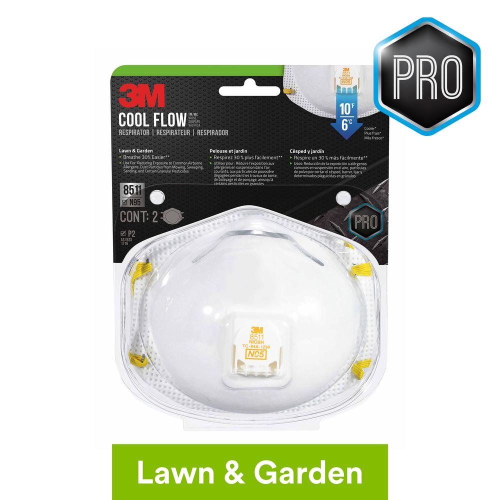 And Respirator Valved 3m Lawn Mask N95 2-pack Dust Garden