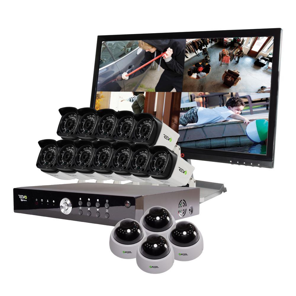 Aero 16-Channel HD 4TB Surveillance DVR with 16 1080p Indoor/Outdoor Cameras