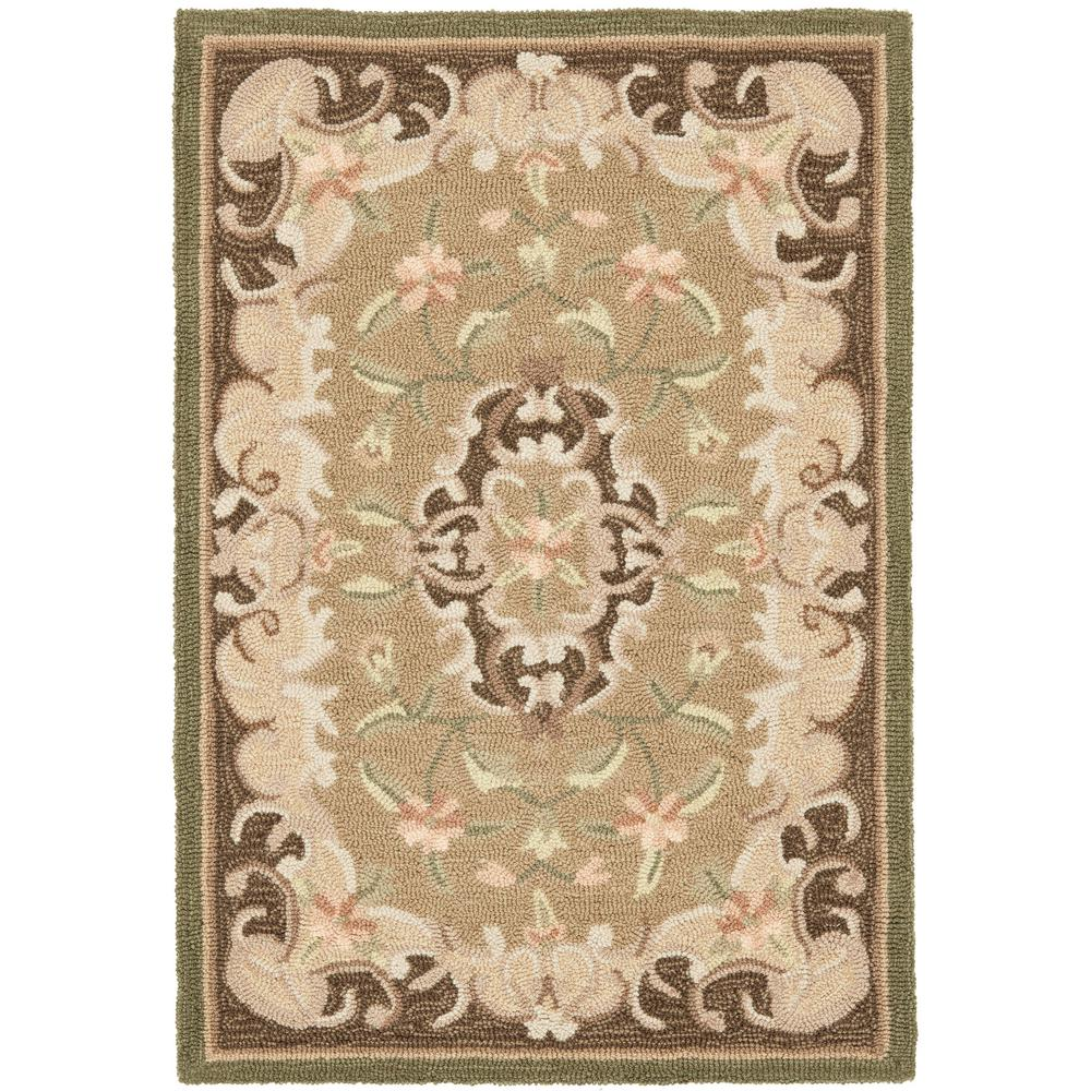 Safavieh easy care beige brown 2 ft x 3 ft area rug for Easy rugs