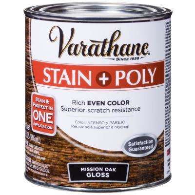 1-qt. Mission Oak Gloss Water-Based Interior Stain and Polyurethane (2-Pack)