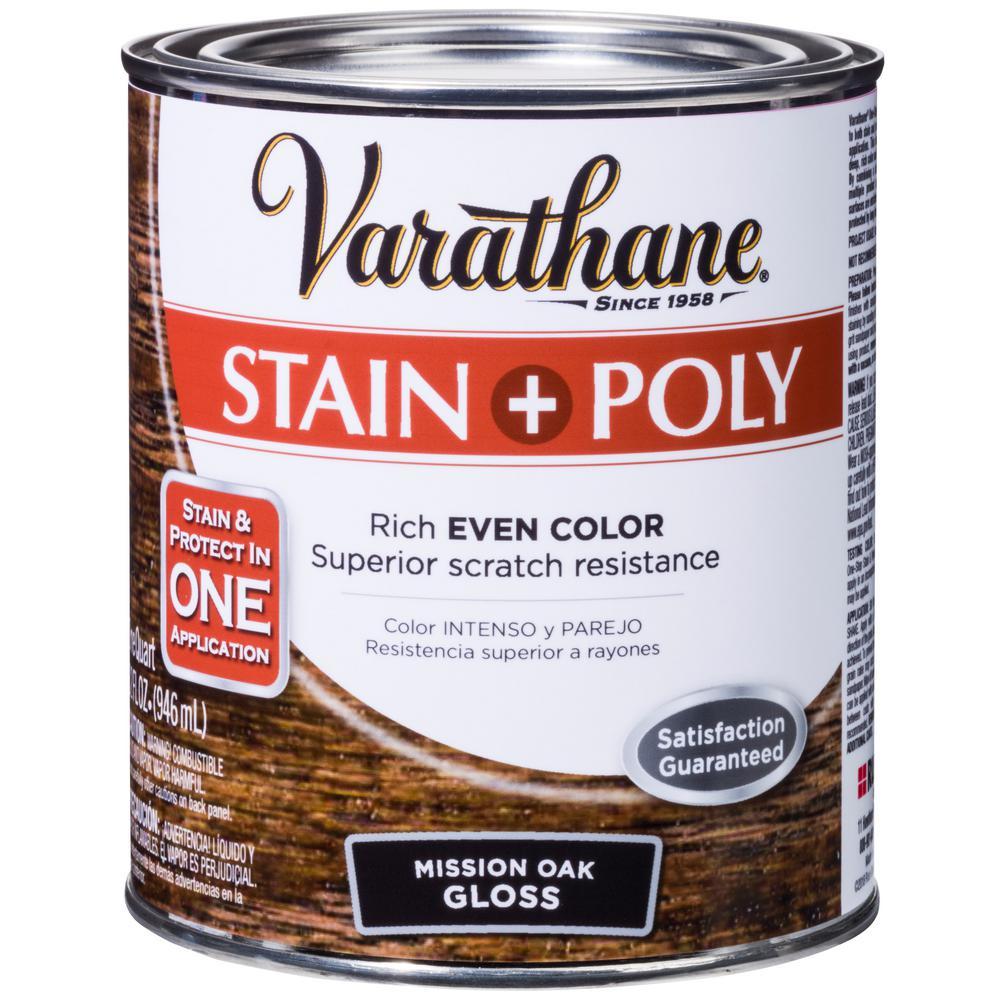 Varathane 1 qt. Oak Gloss Oil-Based Interior Stain and Polyurethane
