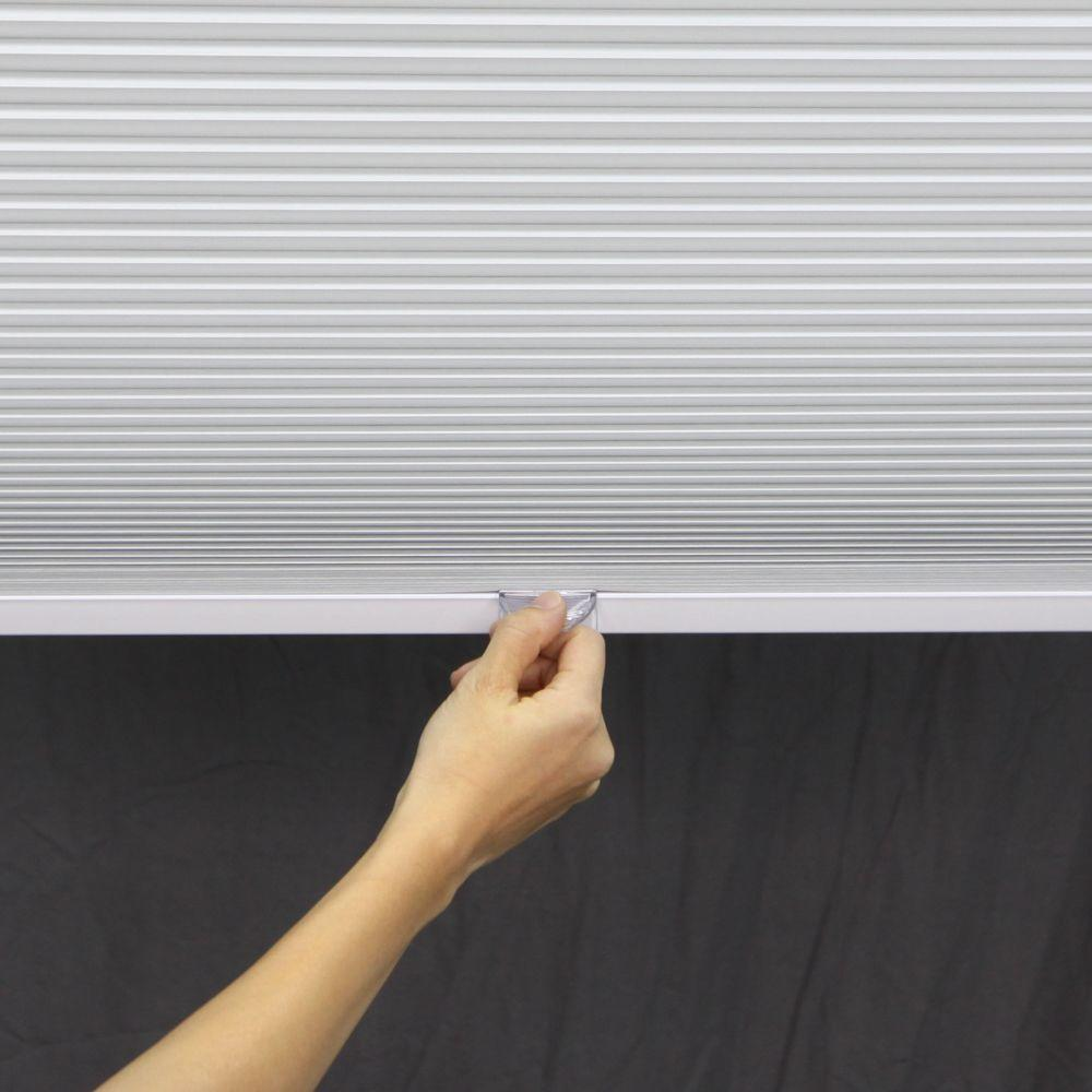 Perfect Lift Window Treatment White 1-1/2 in. Cordless Blackout Cellular Shade - 20 in. W x 72 in. L (Actual Size: 20 in. W x 72 in. L )
