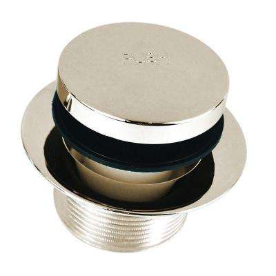 1.865 in. Overall Diameter x 11.5 Threads x 1.25 in. Foot Actuated Bathtub Closure, Brushed Nickel