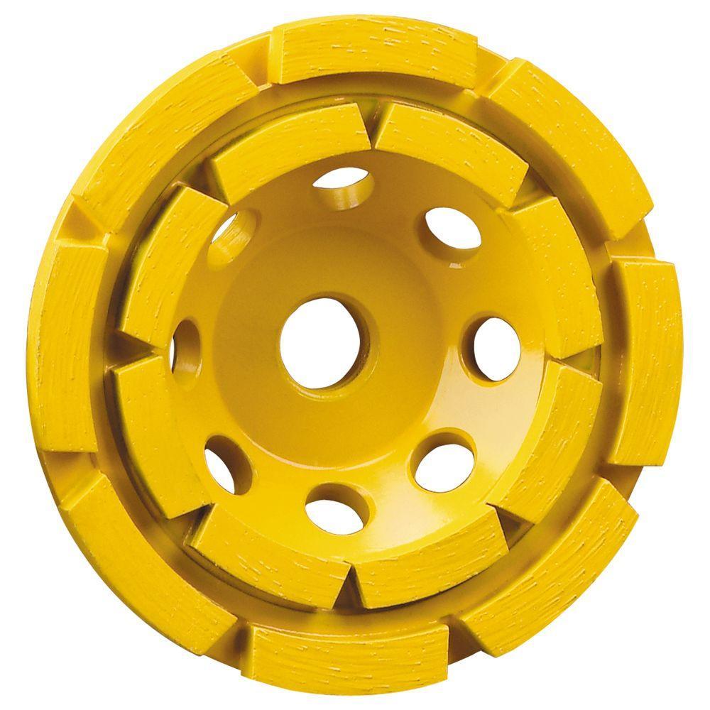 4-1/2 in. Double Row Diamond Cup Wheel