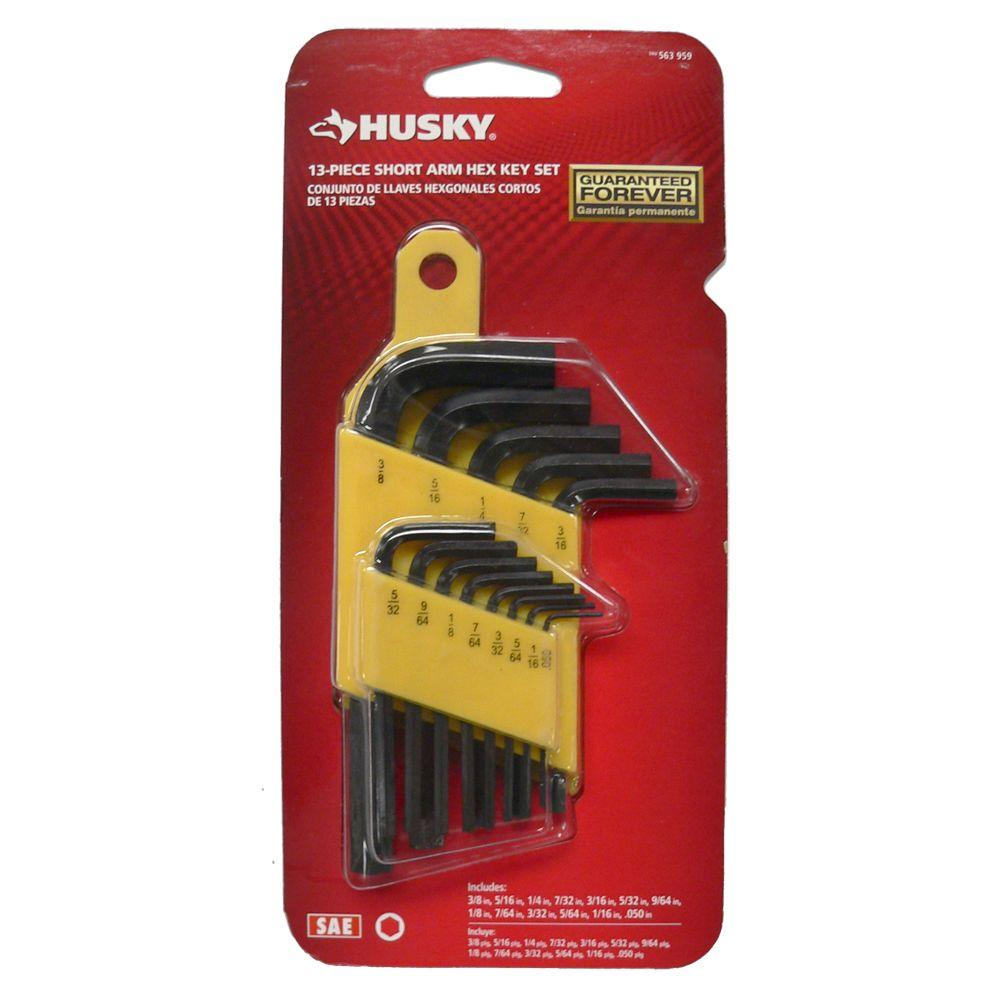 (13-Piece) SAE Short-Arm Hex Key Set