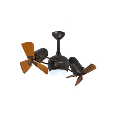 Dagny 38 in. LED Indoor/Outdoor Damp Textured Bronze Ceiling Fan with Remote Control