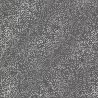 Daraxa Black Paisley Wallpaper Sample