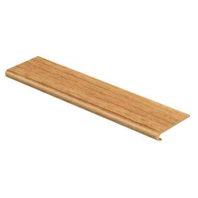 Oak/Yukon Oak 94 in. L x 12-1/8 in. W x 1-11/16 in. T Vinyl Overlay to Cover Stairs 1 in. Thick