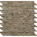 Zirconia Interlocking 12 in. x 12 in. x 8mm Glass Mesh-Mounted Mosaic Tile (10 sq. ft./case)