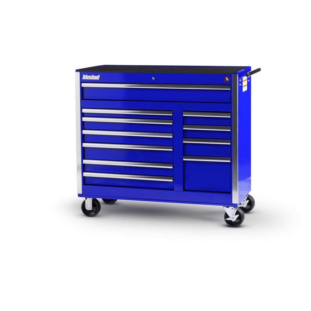 Tech Series 42 in. 11-Drawer Roller Cabinet Tool Chest in Blue