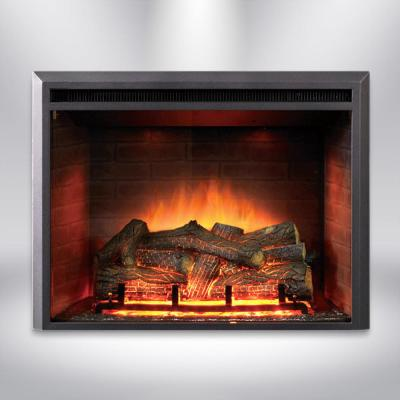35 in. LED Electric Fireplace Insert in Black Matt