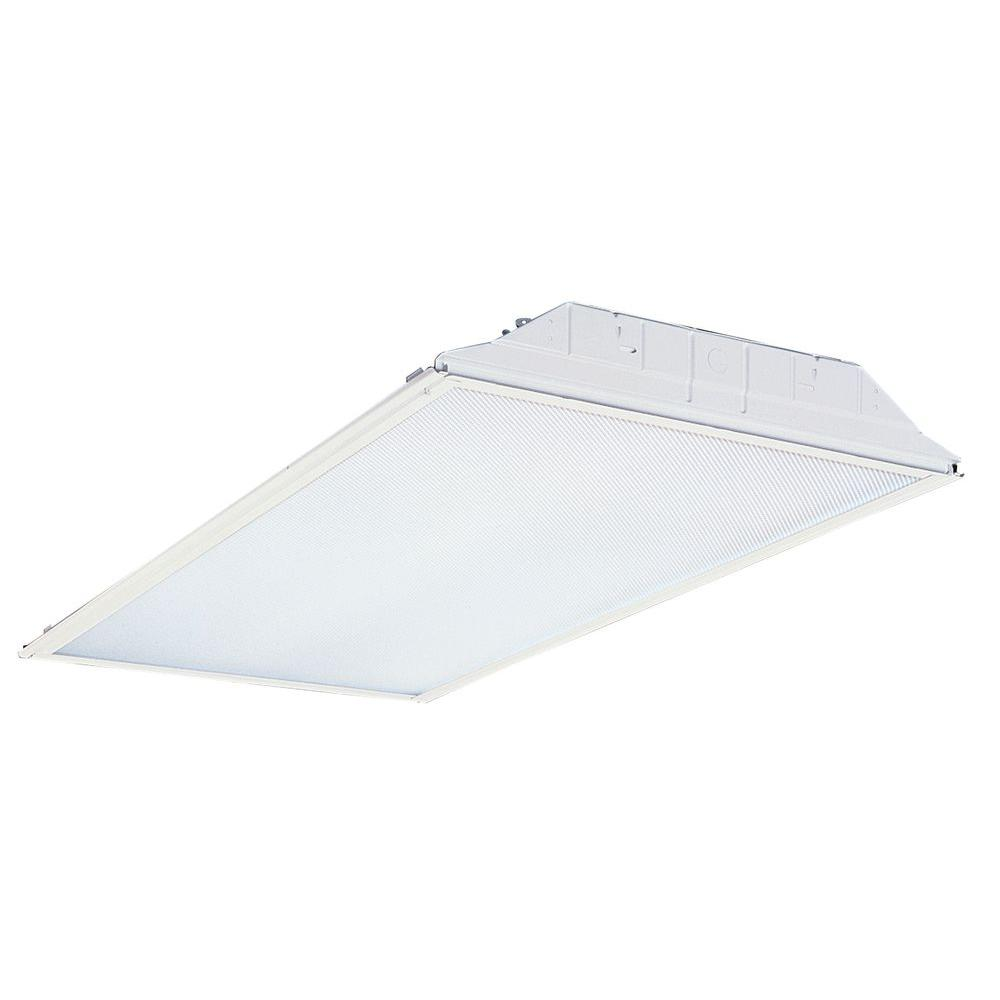 Lithonia lighting 2 ft x 2 ft silver 9 cell multi volt fluorescent fluorescent general purpose troffer arubaitofo Images