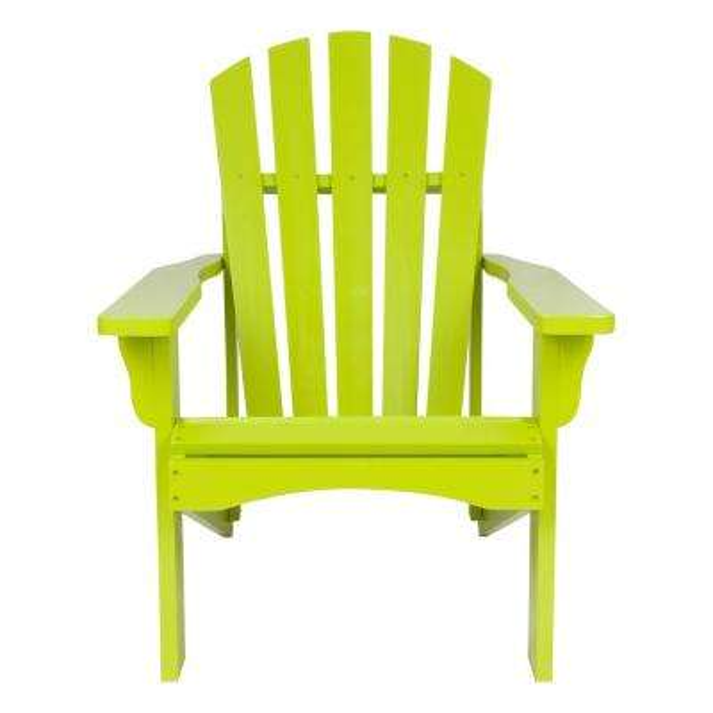 Rockport Lime Green Cedar Wood Adirondack Chair