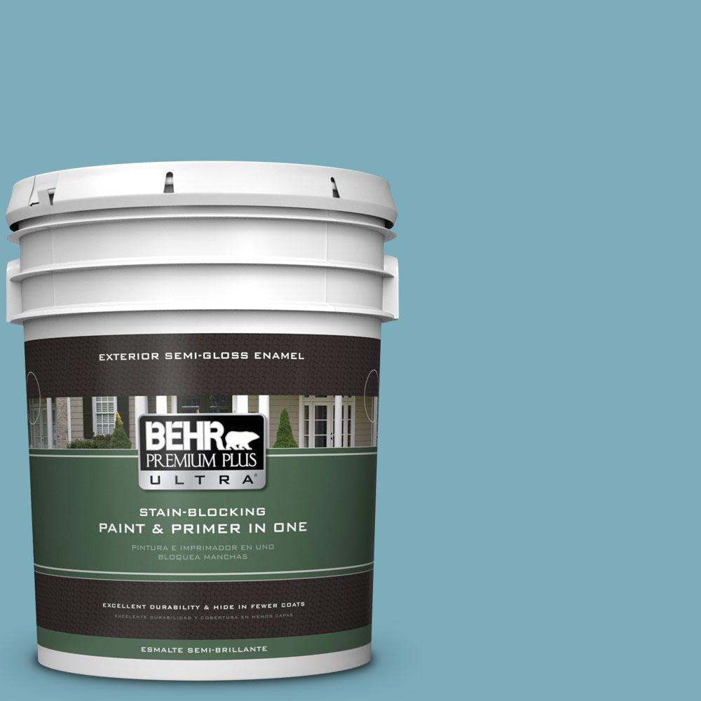 BEHR Premium Plus Ultra 5-gal. #520F-4 November Skies Semi-Gloss Enamel Exterior Paint