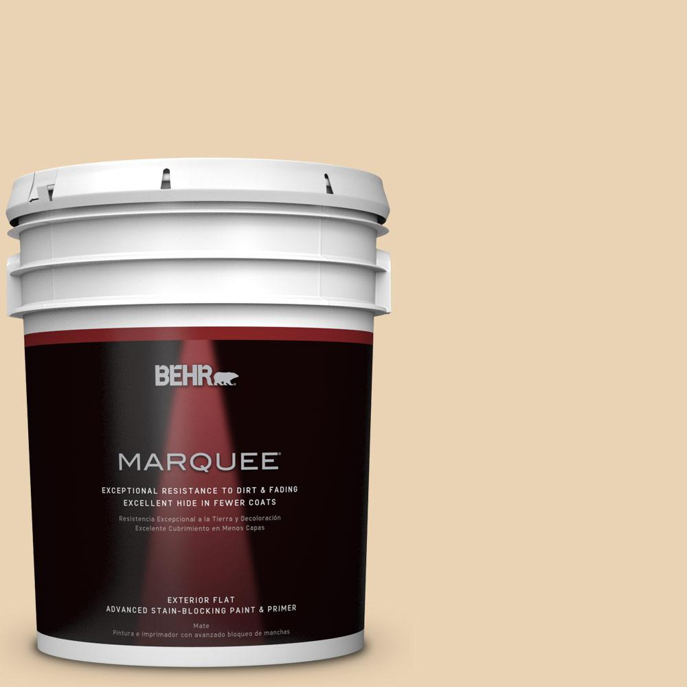 BEHR MARQUEE 5-gal. #ICC-93 Champagne Gold Flat Exterior Paint