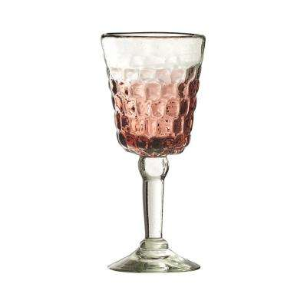 Cobblestone 8 oz. 4-Piece Amethyst Glass Ombre Campana Goblet Drinkware Set