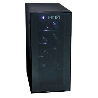 10-Bottle Wine Cellar, Touch Control in Black