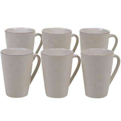 Harmony 6-Piece Cream 15 oz. Mug Set