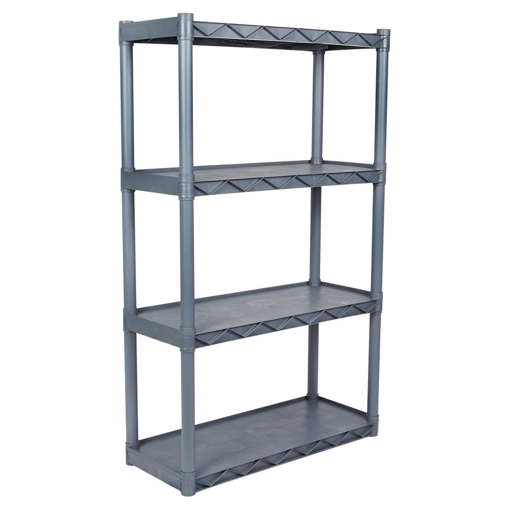 plano 4 shelf 14 in w x 34 in d gray shelving unit 904011 the rh homedepot com