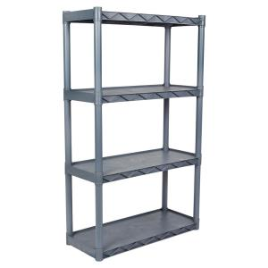 4 Shelf 14 In W X 34 D Gray Shelving Unit