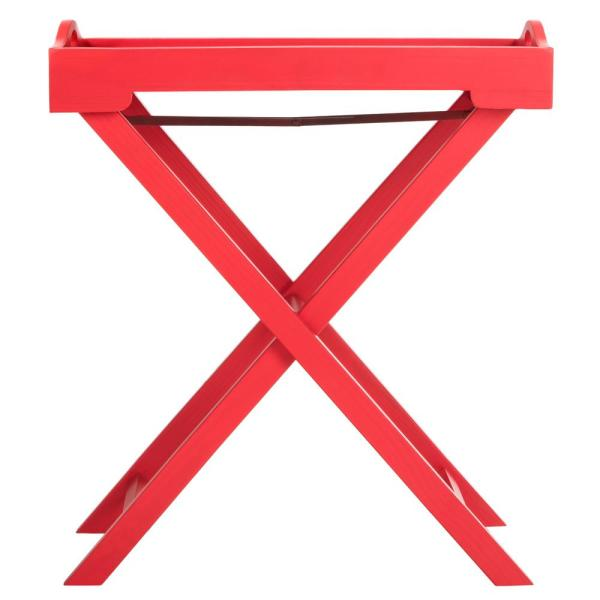 Safavieh Leo Hot Red Tray Side Table AMH6624C