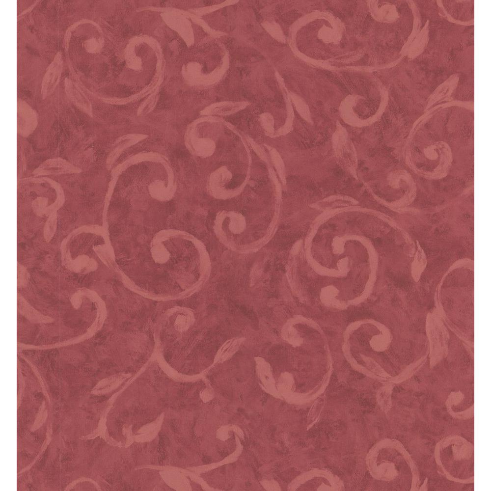 Brewster 56 sq. ft. Scroll Wallpaper