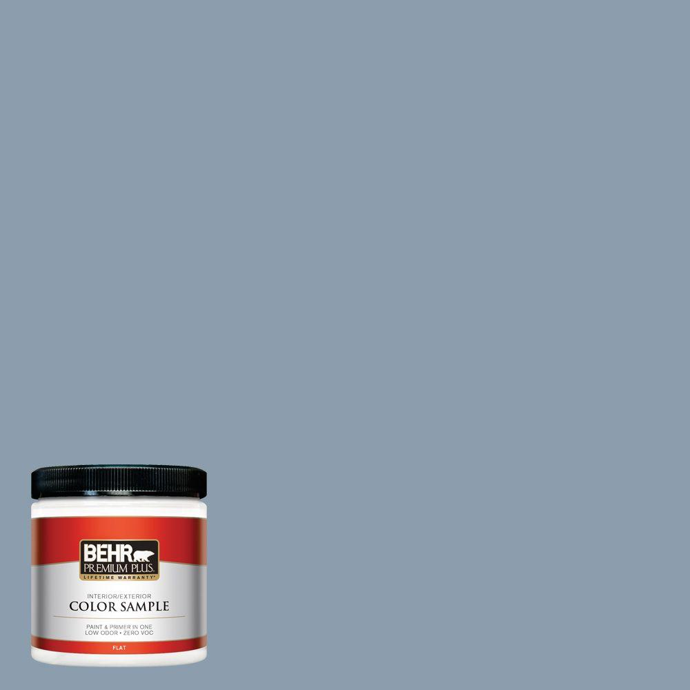 Icc 65 Relaxing Blue Flat Interior Exterior Paint And Primer In One Sample