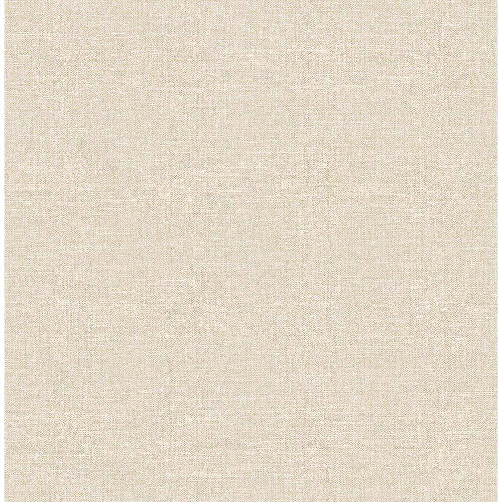 A-Street 56.4 sq. ft. Asa Beige Linen Texture Wallpaper 2889-25241