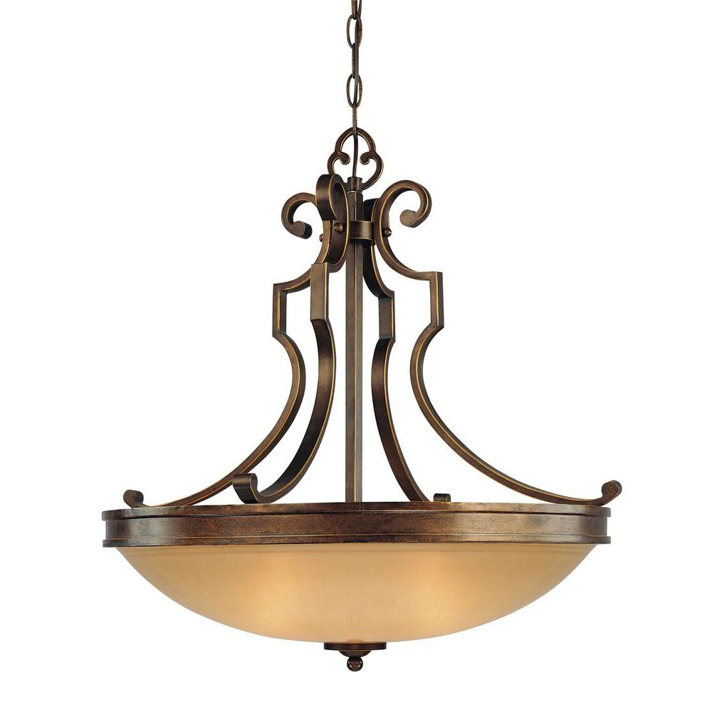 Atterbury 3-Light Deep Flax Bronze Pendant