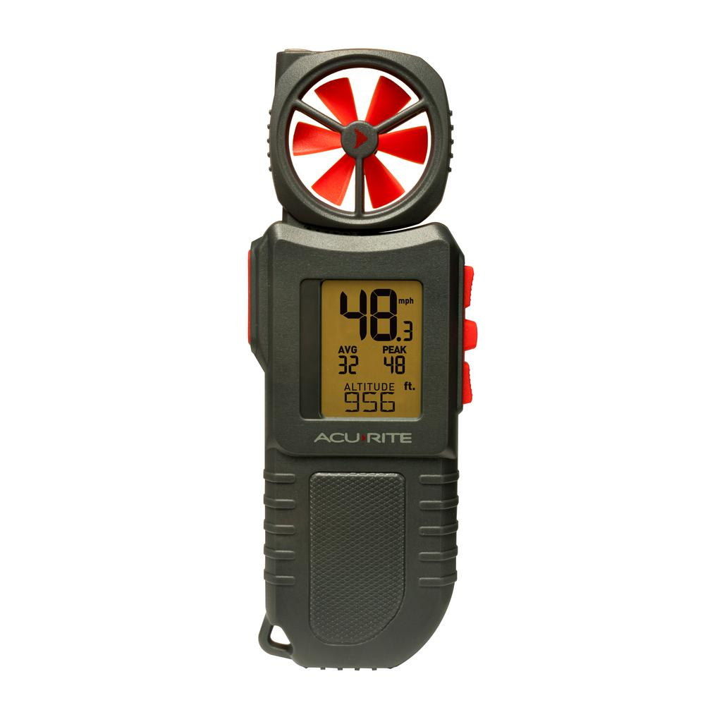 Portable Anemometer with Inspection Light and Extendable Vane