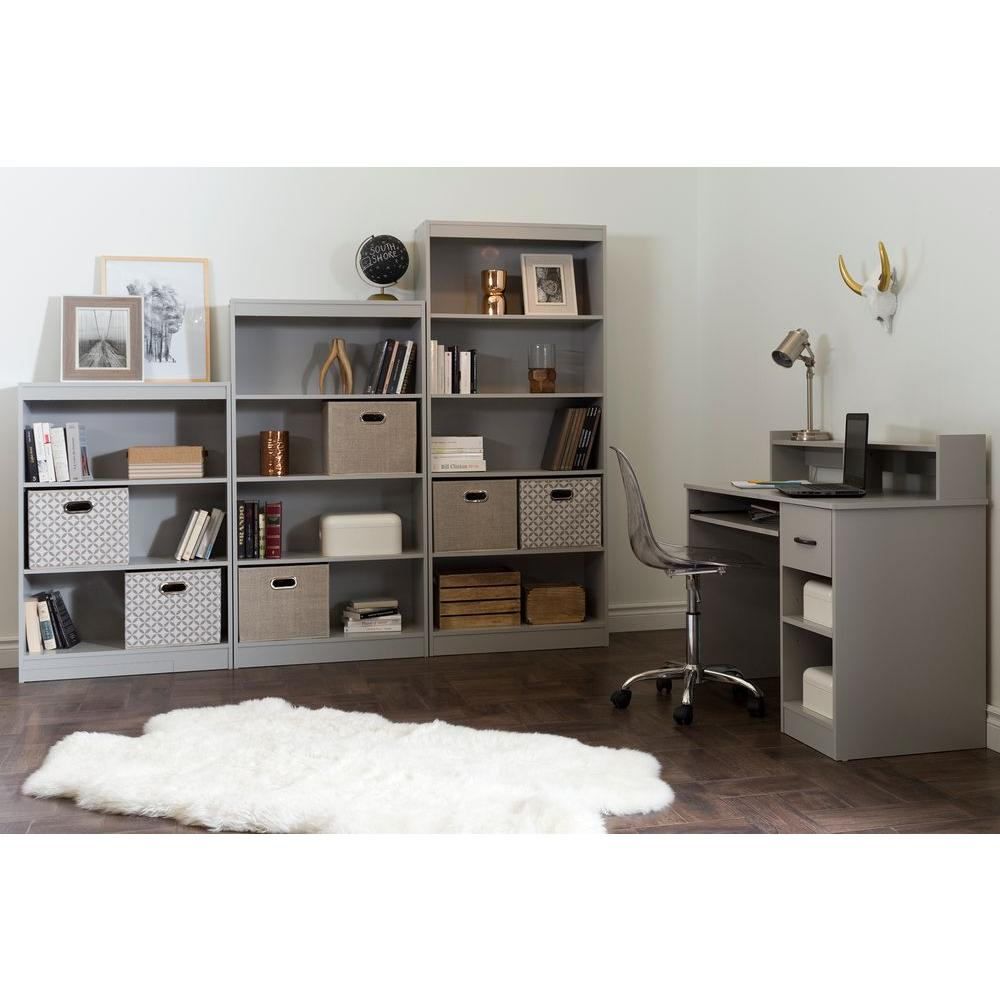 South Shore Axess Soft Gray Desk With Shelving. Write A Review