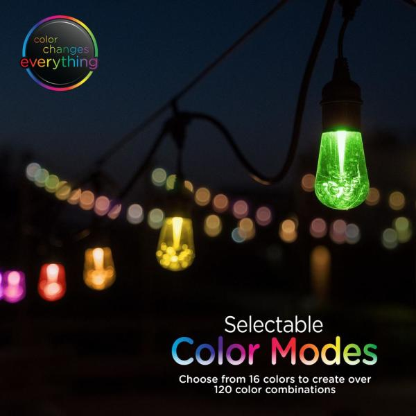 Celebrations LED 1000 indoor//outdoor multi colored 74 ft light string 8 function