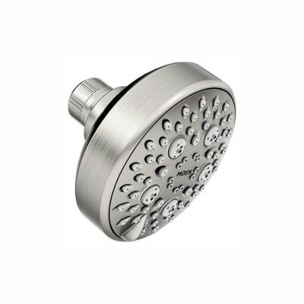Avira 4-Spray 4.1 in. Single Wall Mount Fixed Shower Head in Spot Resist Brushed Nickel