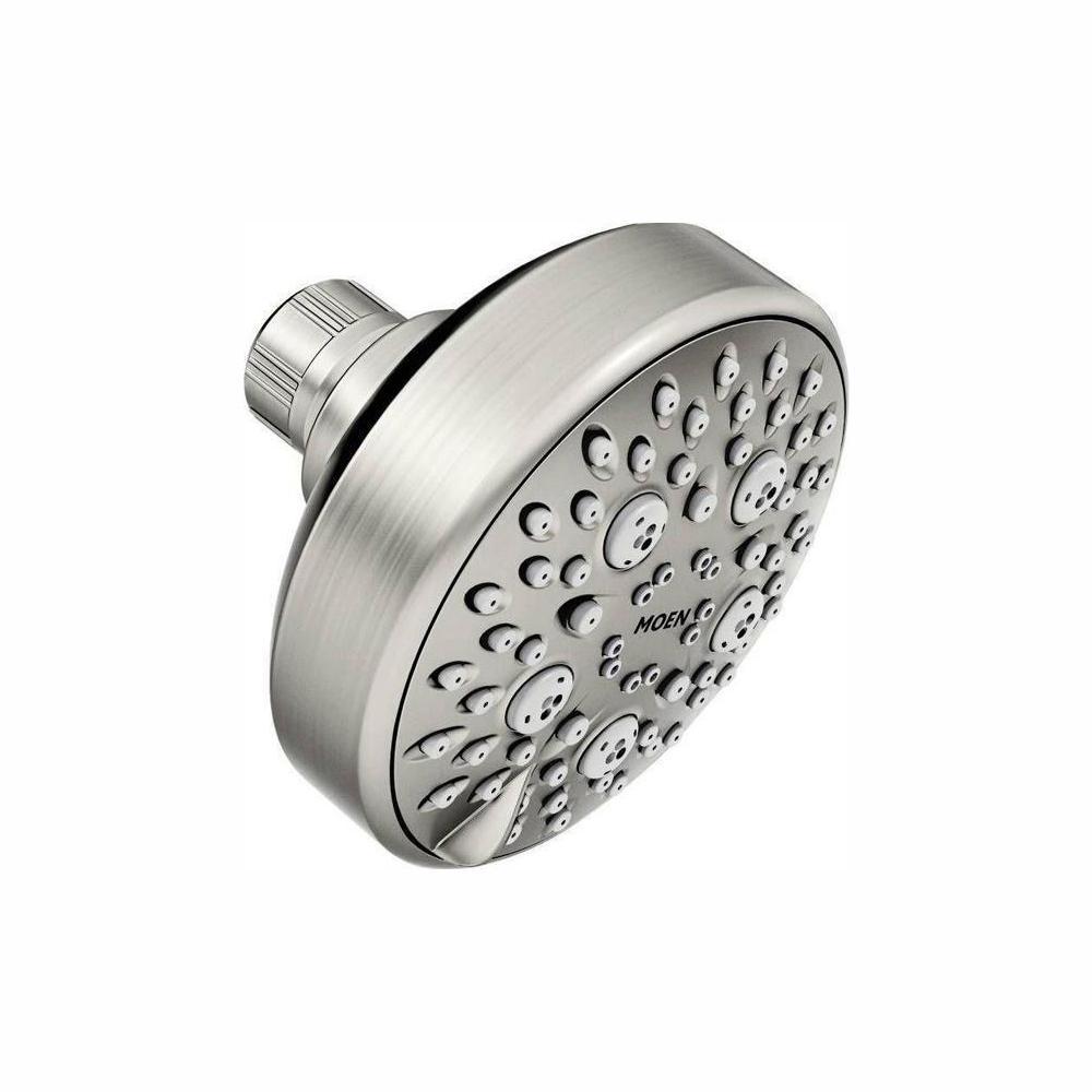 MOEN Avira 4-Spray 4 in. 1.75 GPM Showerhead Featuring HydroBoost in Spot Resist Brushed Nickel