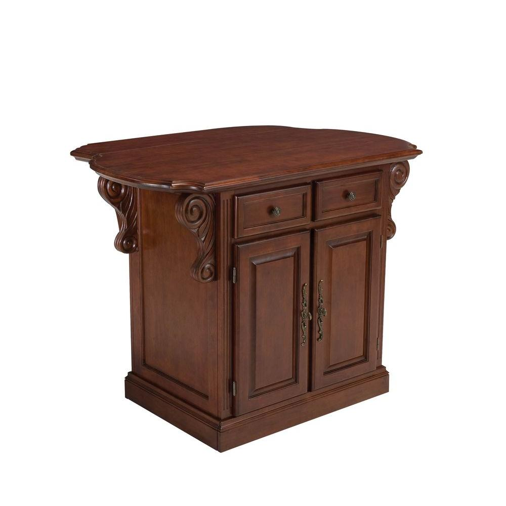 Home Styles Traditions Kitchen Island in Cherry-DISCONTINUED